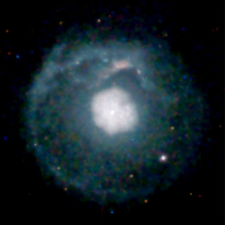 A supernova remnant about 20,000 light years f...